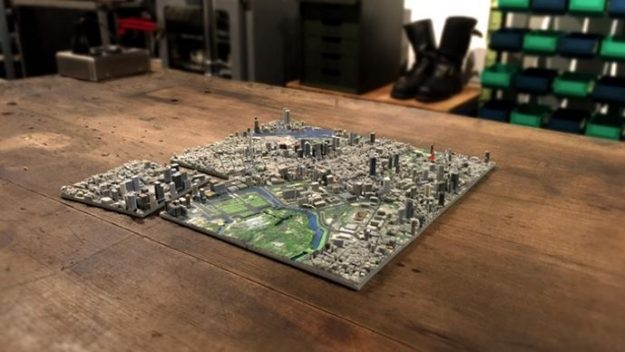 Tokyo Is Being Recreated As 100 Piece 3D Printed Map You Can Own
